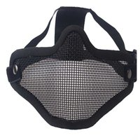 Airsoft Field Wargame Tribal Chief Mask Half Face Metal Steel Net Mesh Hunting Tactical Protective Airsoft Mask Y0913