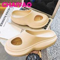 Summer Men's Slippers Indoor Home Shoes Unisex Beach Outdoor Slides Mesh Platform Mules Clogs Woman Sandals Foam Runner 210908