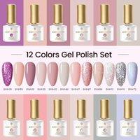 Gel colorido unha polonês conjunto 7ml verniz semi-permanente UV LED híbrido polonês soak off kit top casaco