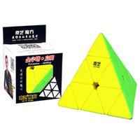 Qiyi الهرم سرعة ماجيك مكعب 3x3x3 الهرم مكعب لغز لعب للأطفال سرعة مكعب لغز شكل كوبو الهرم 3x3