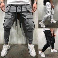 Мужские штаны уличные рабочие одежды спортивные пробежки тонкий карманный карман Simwood одежда джинсы