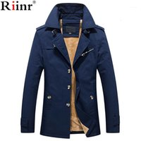 Riinr 2020 Marque Nouvelle Arrivée Jaqueta Masculino Haute Qualité Automne Hiver Hiver Warm Fleece Couleur Solide Collier Collier Men's Jacket1