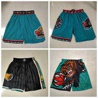 """Nur Don Men Memphis """"Grizzlies"""" Kurzbasketball-Jersey 1995-96 Shorts JR Morant Bibby Authentische genähte Retro-Pants Classic 811"""