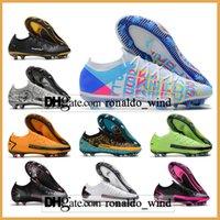 Подарочная сумка Мужские Высокие Топы Футбольные Ботинки Phantom GT ELITE FG Фирма Наземные Клеиты Открытый Технологический ремесленники Superfly Ack Scorpion Футбольная обувь