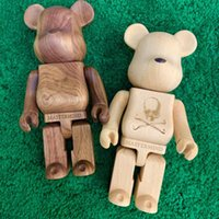 New style 28CM 2.5KG The Bearbrick Bear The Walnut solid wood Companion Figure With Original Box Action Figure model decorations gift