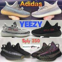 2021 Adidas Yeezy 350 Boost Zapatos de correr Criado Zebra Reflective Ash Pearl Blue Stone Yecheil Black Static Cinder Yeshaya GID Hombres Mujer zapatillas de deporte con caja