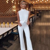 Women's Jumpsuits & Rompers Womens Jumpsuit 2021 Europe Turtle Neck Strap Style Leisure Conjoined Women Vestidos HJY8227