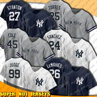 Yankees 99 Aaron Juez Jersey New 45 Gerrit Cole Jerseys York 26 DJ Lemahieu Gary Sanchez Jersey Gio Ursella Gleyber Torres Stanton Uniform XCVXCV