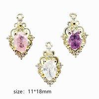 Nail Art Decorations 5pcs pack Korea 3D Accessories Alloy Luxury Zircon Parts Glitter Rhinestone Charm Jewelry Tips