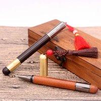 Bolígrafo bolígrafo estilo antiguo literario pluma pluma pluma baozhu agua escritura retro chino nudo gel regalo de navidad logotipo personalizado