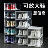 Plastic Transparent Shoe Box, Increase And Thicken High-top Basketball Storage Sports Shoes Dustproof Box Disposable Covers