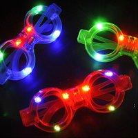 ضوء الزجاج أدى الصمام البلاستيك EEA499 ديكور النظارات ضوء توهج لعبة الزجاج الاطفال لإظهار الاحتفال حزب النيون عيد الميلاد OWA4865