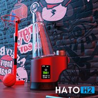 Enail Wax Vaporizer kits Concentrate Shatter Budder Dabs Rig Hato H2 400F-700 800F Continuous Tempreature Setting 7 Color Lighting 2800mAh Battery
