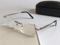 Verres d'oeil de mode Prescription 0030 Cadre sans monture Verres optiques Clear Lens Simple Style d'affaires pour les hommes
