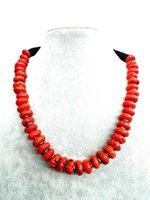 Bruiloft vrouw sieraden choker ketting 14mm natuurlijke rode koraal kralen overdrijven handgemaakte charme