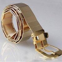 Belts Fashion Silver Gold Chain Belt For Jeans Metal Ladies Women Man Ketting Riem Designer High Qualit Luxury Waist Femme