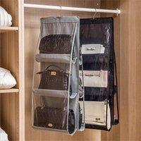 6 Tasche faltbare hängende Beutel Lagerung Organizer Transparente Aufbewahrungstasche für Schrank Schuhe Türwand Sonnenzutschuhe Beutel 1311 T2
