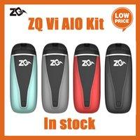 100 % 정통 ZQ VI 키트 포드 2ml 공기 흐름이있는 맛을 내장 된 배터리 650mAh Ecig 스타터
