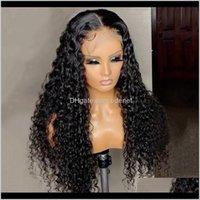 Onetide الأفرو غريب مجعد البرازيلي الدانتيل الجبهة شعر الإنسان الباروكات للنساء السود 4x4 إغلاق الباروكة أمامي JS6WM PNR7Z