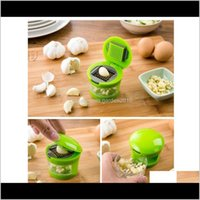 Fruit Tools Kitchen, Dining Bar Home & Gardengarlic Chooper Hand Press Plastic Mini Garlic Grinder Ginger Grater Cutter Vegetable Slicer Kit