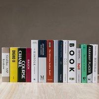 Libro de emulación Modelo Figurines Muebles para el hogar Objetos decorativos Decorativos Simulación de moda moderna Sala de estar Hotel Club Decorar libros falsos Prop 1 6ym B3