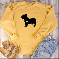 French Bulldog Graphic Crewneck Women Sweatshirt Pullover Jumper Top Kawaii Dog Lover Shirt Tumblr Clothes Drop