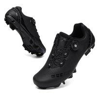 أحذية ركوب الدراجات الذاتي قفل الطريق دراجة رياضية مسطحة المربط جبل sapatilha ciclismo الأحذية