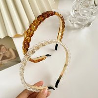 Hair Clips & Barrettes Women Headbands Fashion Resin Brown Transparent Accessories Width Head Band For Girl Gift Ornaments