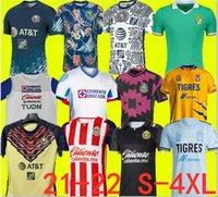 Tamanho S-4XL LIGA MX 21 22 Club América Futebol Jerseys Leon Terceiro 2021 2022 México Léon Tijuana Tigres Unam Chivas Guadalajara Cruz Azul Futebol Camisas