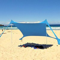 Tents And Shelters Large Beach Sunshade Lightweight Sun Shade Tent With Sandbag Anchors UPF50+ UV Portable Family Camping Canopy Drop
