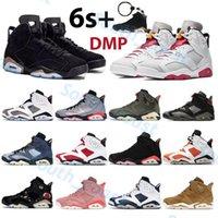 DMP 6 6 ثانية كرة السلة أحذية UNC أوريغون الأسود الأشعة تحت الحمراء البديل هير ترافيس سكوتس تعكس الفضة العبث مارون كرمين الرجال أحذية رجالي الرياضة المدربين