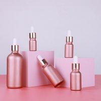 30 ml Mat Gül Altın Cam Şişeler Ile Sıvı Reaktifi Pipet Aromaterapi Esansiyel Yağ Parfüm Tentürü GWB6646