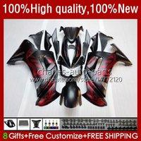 Kit de cares de motocicleta para Kawasaki Ninja 650R ER6 F 650 R ER 6 F ER6F 06 07 08 Bodywork 6NO.0 650R-ER6F 650-R 06-08 ER-6F ER 6F 2006 2007 2008 OEM Bodys Red Black Matte
