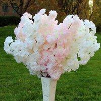 Yapay Çiçek 4 Kafa Kiraz Çiçeği Gelin Düğün Dekor Trendy Çiçekler Bahçe Dekorasyon Sahte Dekoratif Çelenkler