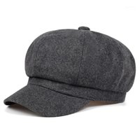 2020 solid color fashion beret autumn and winter outdoor windproof warm hat men and women universal wool hats hip hop wild cap1