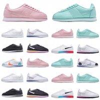 جودة عالية 2021 كلاسيكي كورتيز نايلون RM الاحذية الوردي أسود أحمر أبيض أزرق خفيف الوزن تشغيل Chaussures Cortezs جلد BT Sneakers TN Shoe