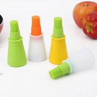 bottle brush kitchen tool kit barbecue set silicone baste brush soft flexible multi colors available kitchen accessory OWF9147