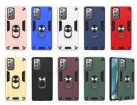 360 Ring Stand Hybrid Armor Cases for Samsung A42 A12 A32 A52 A72 A22 5G S20 S21 PLUS S21FE NOTE20 Car Magnet Shockproof cover