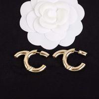 2021 أزياء نمط انخفاض القرط السلس في 18 كيلو الذهب مطلي الكلمات شكل للنساء مجوهرات الزفاف هدية مع مربع PS3495