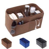 Storage Bags Solid Felt Organizer Handbag Insert Bag Inner Purse Makeup Portable Travel Cosmetic Reusable