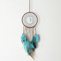 Tassel Feather Turquoise Wind Chimes Window Wall Hanging Indian Home Decor