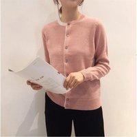 Cxfs primavera mujeres suéter solo pecho de manga larga femenino de punto Cardigans O-cuello Moda Marca casual Punto de mujer Tees