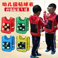 Camisa infantil camisa pegajoso bola adulto esportes pai criança jogos interativos brinquedos ao ar livre equipamento de treinamento sensorial gpwd