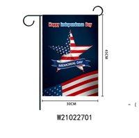 Holiday Garten Flagge Party Home Decoration Flagge Banner Bunte doppelseitige Garten Flagge Home Festliche Rasen Dekor 30 * 45 cm BWB6492