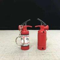 창조적 인 소화기 모양 가스 라이터를위한 재충전 체인의 라이터 디자인