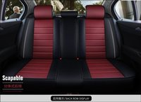 Rear Seat Only Leather Car Cover For Getz Solaris Elantra Tucson Veloster Creta I20 I30 Ix35 I40 Accessories Covers