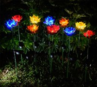 Lotus flor LED LED impermeable Estanque Solar Decoraciones de jardín Multi-color Cambiando paisaje Lámpara de césped al aire libre Decorativo Sea HHC7578