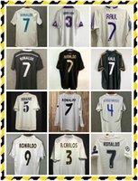 94/96 Real Madrid Retro Version # 7 Jersey de football Raul 97/98 Hierro Redondo Ronaldo Ronaldo Suckorf Shakerf Soccer Shirt # 6 Redondo Football Uniforme