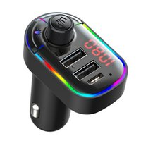 C12 Car Hands-Free Wireless Bluetooth FM Transmitter MP3 Charger Dual Equipped Player Bluetooth LED Display Dual USB Car Chargers