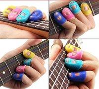 سيليكون الغيتار فنجر كم إصبع الإبهام يختار حماة إصبع الغيتار مفيدة للغيتار الصوتية المبتدئين سلاسل أخرى أداة العلاقات العامة